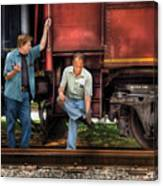 Train - Yard - Shoot'in The Breeze Canvas Print