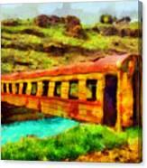 Train Bridge Canvas Print