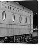 Train Car, Black And White Canvas Print