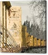 Train Cars Selective Color Canvas Print