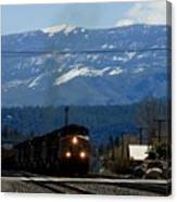 Train Entering Truckee California Canvas Print