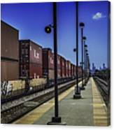 Train From Chicago Canvas Print
