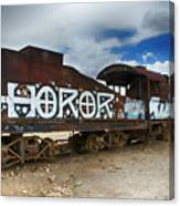 Train Graveyard Uyuni Bolivia 13 Canvas Print