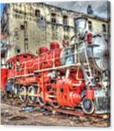 Train In Havana Canvas Print