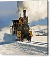 Train In Winter Canvas Print