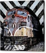 Train Mural Canvas Print
