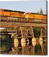 Train Over Water Canvas Print