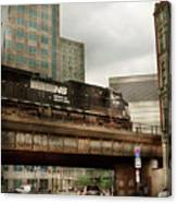 Train - Pittsburg Pa - The Industrial City Canvas Print