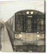 Train Sketch Canvas Print