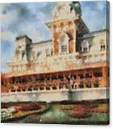 Train Station At Magic Kingdom Canvas Print