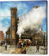 Train Station - Boston And Maine Railroad Depot 1910 Canvas Print