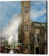 Train Station - Look Out For The Train 1910 Canvas Print