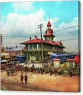 Train Station - Louisville And Nashville Railroad 1912 Canvas Print