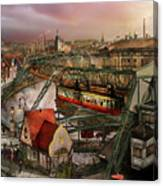 Train Station - Wuppertal Suspension Railway 1913 Canvas Print