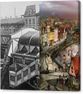 Train Station - Wuppertal Suspension Railway 1913 - Side By Side Canvas Print