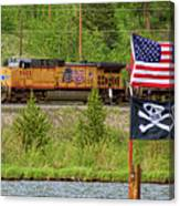 Train The Flags Canvas Print