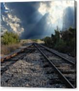 Train Track Junction In Charleston Sc Canvas Print