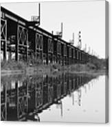 Train Track Reflections Canvas Print