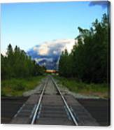 Train Tracks Anchorage Alaska Canvas Print