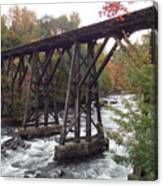 Train Tracks Over The Winnipesaukee River Canvas Print