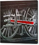 Train Wheels 4 Canvas Print
