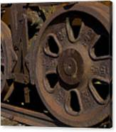 Train Wheels At Eckley Village Canvas Print