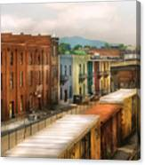 Train - Yard - Train Town Canvas Print