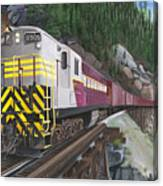 Trainmaster At Myra Canvas Print