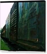 Trains 12 Cross Process Border Canvas Print