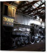 Trains 3007 C B Q Steam Engine Canvas Print