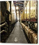 Trains Ancient Iron In The Barn Canvas Print