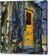 Trains Box Car Yellow Door Pa 04 Canvas Print