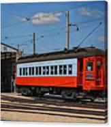 Trains Chicago Aurora Elgin Trolley Car 409 Canvas Print
