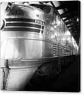 Trains Emd E5 Diesel Locomotive Bw Canvas Print