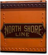 Trains North Shore Line Chicago Signage Canvas Print