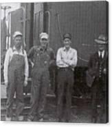 Trainsmen Canvas Print