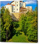 Trakoscan Castle And Green Lake  Canvas Print