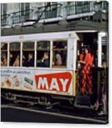 Tram 223, Graca, Lisbon, 1972 Canvas Print