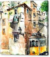 Tram In Lisboa Canvas Print