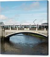 Tram On The Sean Heuston Bridge Canvas Print
