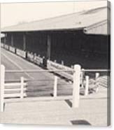 Tranmere Rovers - Prenton Park - Borough Road Stand 1 - Bw - 1967 Canvas Print