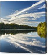 Tranquil Lake In Finland Canvas Print