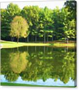 Tranquil Landscape At A Lake 2 Canvas Print