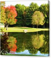 Tranquil Landscape At A Lake 3 Canvas Print