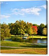 Tranquil Landscape At A Lake 9 Canvas Print