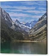 Tranquil Mountain Lake Canvas Print