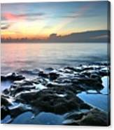 Tranquil Sunrise At Coral Cove Beach Canvas Print