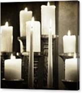 Tranquility Of Candlelight Canvas Print