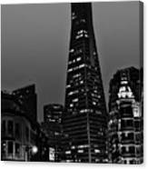 Trans American Building At Night Canvas Print