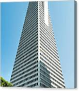 Transamerica Pyramid In San Francisco, California Canvas Print